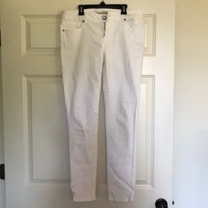 Cabi white jeans size 6